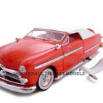 1949 Ford Convertible Red 1/24 Diecast Car by Unique Replicas