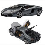 Lamborghini Aventador LP700-4 Metallic Grey w/Openings 1/43 Diecast Model Car by Autoart