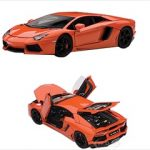 Lamborghini Aventador LP700-4 Metallic Orange w/Openings 1/43 Diecast Model Car by Autoart
