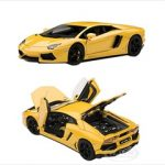 Lamborghini Aventador LP700-4 Yellow With Openings 1/43 Diecast Model Car by Autoart