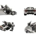 Mclaren F1 Silver With Openings 1/43 Diecast Car Model by Autoart