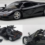 Mclaren F1 Jet Black Metallic With Openings 1/43 Diecast Car Model by Autoart