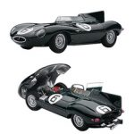 Jaguar D-Type #6 1955 24hr Le Mans Winner w/Openings J.M.Hawthorn / I.L.Bueb 1/43 Diecast Model Car by Autoart