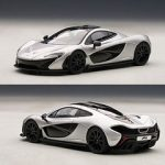 Mclaren P1 Ice Silver 1/43 Diecast Car Model by Autoart