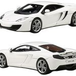 Mclaren MP4-12C White 1/43 Diecast Model Car by Autoart