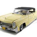1958 Lincoln Continental  Mark 3 Soft Top Yellow Platinum Edition 1/18 Diecast Model Car by Sunstar