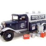 1934 Ford Oil Gasoline Tanker Blue 1/24 Diecast Model Car by Unique Replicas