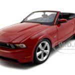 2010 Ford Mustang Convertible Red 1/18 Diecast Car by Maisto