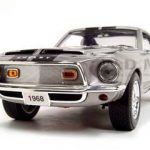 1968 Shelby GT 500KR Silver 1/18 Diecast Model Car by Road Signature