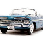 1959 Chevrolet Impala Convertible Blue 1/18 Diecast Model Car by Road Signature