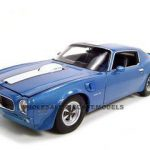 1972 Pontiac Firebird Trans Am Blue 1/18 Diecast Car Model by Welly