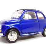1965 Fiat 500 F Blue 1/16 Diecast Model Car by Bburago