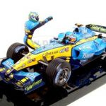 2005 Fernando Alonso R25 F1 Renault Team Champion Constructors 1/18 Diecast Model Car by Hotwheels