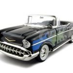 1957 Chevrolet Bel Air Convertible Black 1/18 Diecast Model Car by ERTL