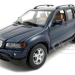 BMW X5 Blue 1/24 Diecast Model Car by Motormax