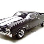 1970 Chevrolet El Camino SS Black 1/18 Diecast Car Model by Welly