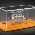 1938 Alfa Romeo 8C 2900B Engine with Display Showcase Limited to 1000pc. 1/18 Diecast Model by CMC