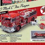1960 Mack C Fire Pumper Truck Texaco 2014 Series 6 Limited Edition with Dalmation and Display Case 1/50 by Autoworld