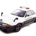 Nissan Skyline GRT R32 Ibaraki Kenkei Japan Police 1 of 6000 Made 1/18 Diecast Model Car by Autoart