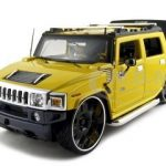 Hummer H2 SUT Concept Yellow Playerz 1/18 Diecast Model Car by Maisto