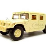 Humvee Cargo And Troop Carrier Military Tan 1/18 Diecast Model Car by Motormax