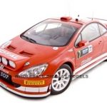 Peugeot 307 2005 WRC M.Gronholm/T.Rautiainen #7 Rally of Deuschland Night Race 1/18 Diecast Model Car by Autoart