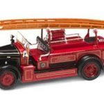 1934 Leyland FK-1 Red/Black 1/43 Diecast Car by Road Signature