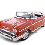 1957 Chevrolet Bel Air Hard Top Red 1/18 Diecast Model Car by Motormax