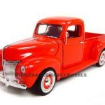 1940 Ford Pickup Truck Red 1/18 Diecast Model Truck by Motormax