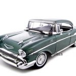 1957 Chevrolet Bel Air Hard Top Green 1/18 Diecast Model Car by Motormax