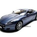2004 Aston Martin DB9 Coupe Blue 1/18 Diecast Car Model by Motormax