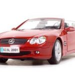 Mercedes Benz SL Class Convertible Dark Red 1/18 Diecast Model Car by Maisto