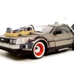 Delorean Time Machine From Back To The Future III Movie 1/18 Diecast Model Car by Sunstar