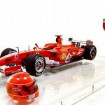 Michael Schumacher Ferrari F1 Brazil GP 2006 1/18 Diecast Model Car by Hotwheels