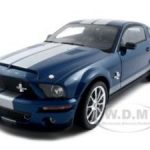 2008 Ford Shelby Mustang GT500KR Blue 1/18 Diecast Car Model by Shelby Collectibles