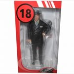 Ettore Bugatti Figure Position 2 With Hat On The Head For 1/18 Scale Models by Lemans Miniatures