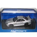 Nissan Skyline GT-R Z Tune R34 2001 Silver 1/43 Diecast Model Car by Autoart