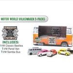 Volkswagen 5 Car Motor World Repair Shop Diorama Set 1/64 Diecast Model Car by Greenlight