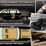 1957 Chevrolet Bel Air Stock Car Smokey Yunicks #3 Black and Gold Best Damn Garage in Town Driven and Signed by Paul Goldsmith Limited Edition to 288pcs 1/18 Diecast Model Car by Acme