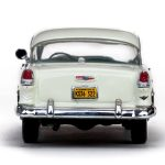 1955 Chevrolet Bel Air Hard Top India Ivory/Regal Turquoise 1/43 Diecast Model Car by Vitesse