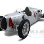 1936-1937 Auto Union Type C #4 1 of 5000 Produced 1/18 Diecast Model Car by CMC