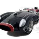 1958 Ferrari 250 Testa Rossa Pontoon Fender #124 Black 1 of 5000 Produced 1/18 Diecast Car Model by CMC