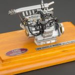 1955 Mercedes 300 SLR Mille Miglia Engine with Display Showcase 1/18 Diecast Model by CMC