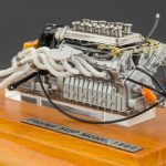 1969 Ferrari 312P Engine with Display Showcase 1/18 Diecast Model Car by CMC