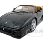 Ferrari F355 Spider 1/18 Black Diecast Model Car by Hotwheels