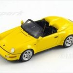 1993 Porsche 964 Wide Body Turbo Look Yellow 1/43 Model Car by Spark