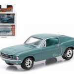 1968 Ford Mustang GT Tahoe Turquoise 1/64 Diecast Model Car by Greenlight
