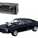 Doms 1970 Dodge Charger Black The Fast and The Furious Movie (2001) 1/43 Diecast Car Model by Greenlight