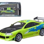 1995 Mitsubishi Eclipse The Fast and The Furious Movie (2001) 1/43 Diecast Car Model by Greenlight