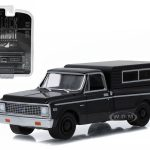 1972 Chevrolet C-10 Pickup Truck Black Bandit 1/64 Diecast Car Model by Greenlight